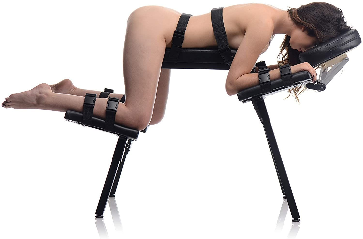 Master Series Obedience Series Extreme Sex Bench girl strapped