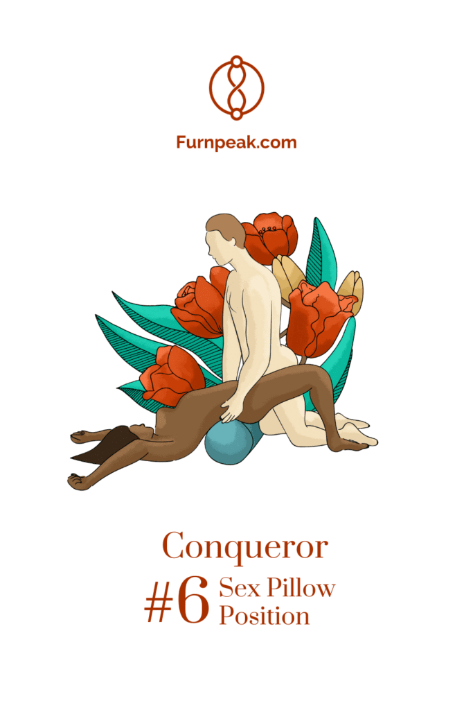 conqueror illustration sex position on sex pillows