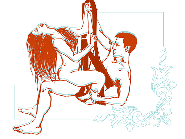 air rider position on a sex swing him and her hraphic
