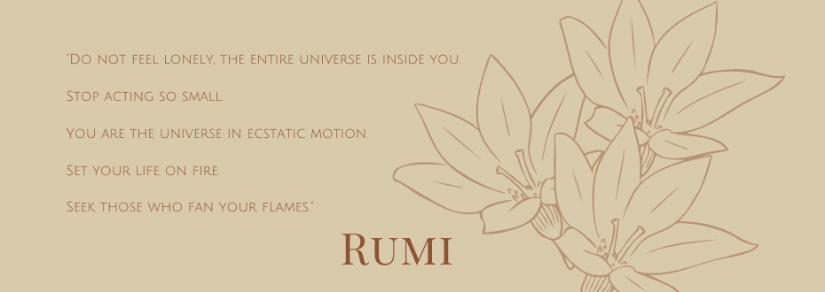 Framed motion quote by Rumi