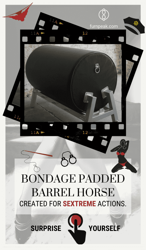 Bondage Padded Barrel Black Horse