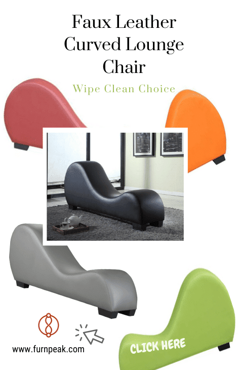 Faux Leather Curved Lounge Sex Chair