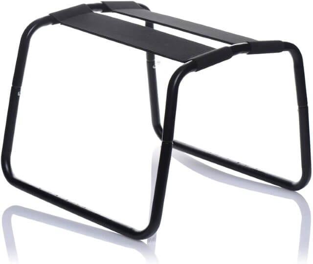 Empty black LoveBotz Bangin Bench Extreme Sex Stool