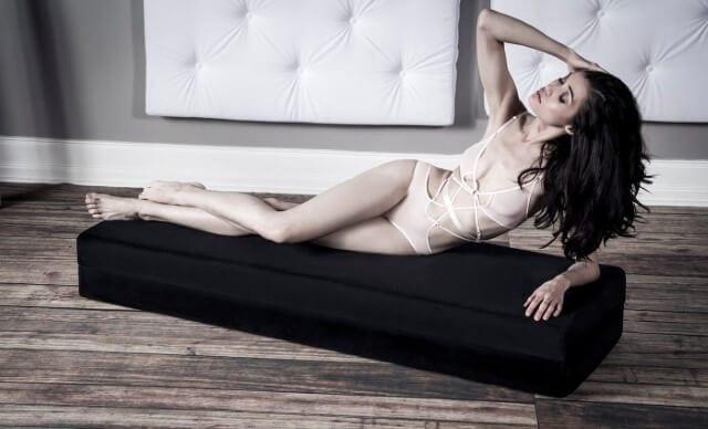 Girl is lying on Liberator Flip Stage