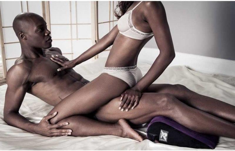 Couple making love using liberator jaz