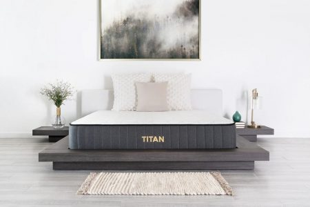 The Titan Firm Hybrid is the best mattress if you're in a plus size couple